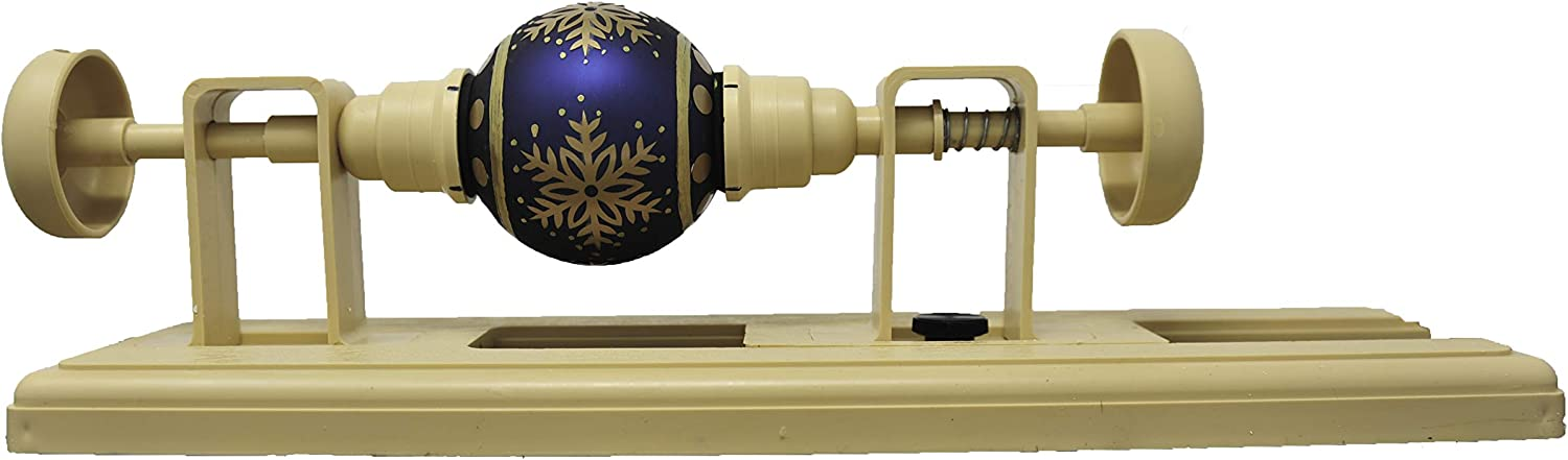 Egg and Ornament Decorating Craft Lathe for Creating Easy, Precise Easter Egg and Christmas Ornament Designs. Gentle Enough for Blown Eggs and Glass Ornaments.