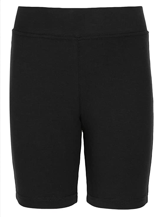 RSVH Cotton Girls Kids Elasticated Knee Stretch Cycling Shorts