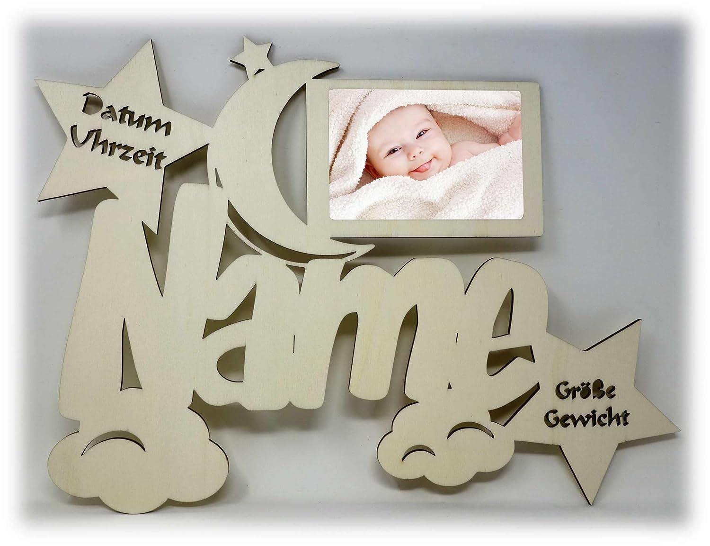 Baby Bilderrahmen 10x15 Individuell mit Namen Geburtsdaten ...
