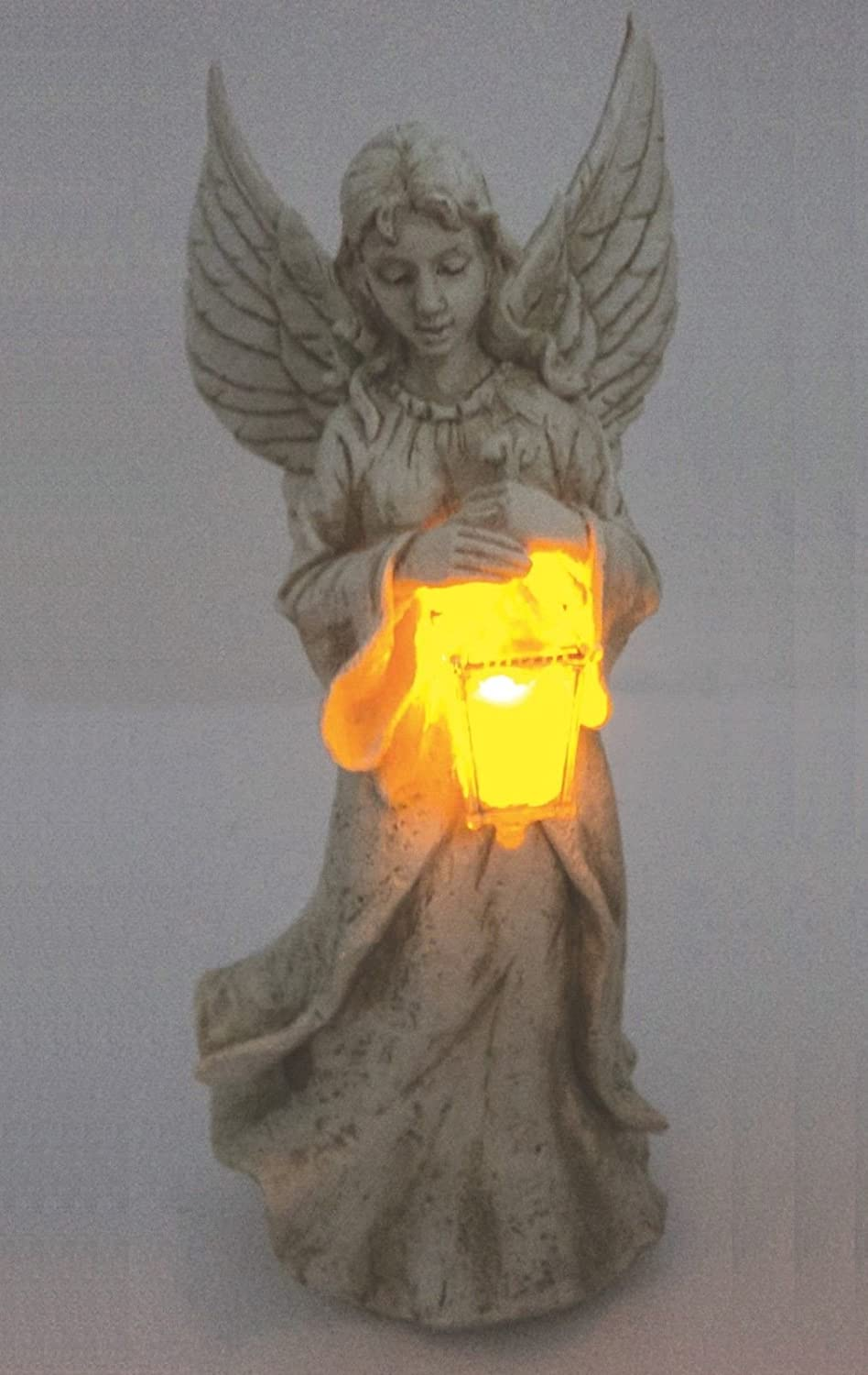 Motionperformance Essentials Outdoor Garden Solar Angel and Lantern With Wings /& Amber LED