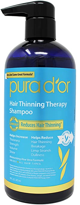 PURA D'OR Hair Thinning Therapy Shampoo for Prevention