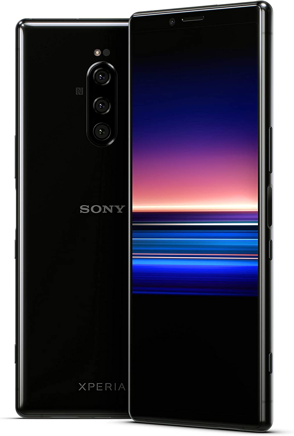 Amazon Com Sony Xperia 1 With Alexa Hands Free Unlocked Smartphone 128gb Black Us Warranty In 6 5 4k Hdr Oled Cinemawide Display