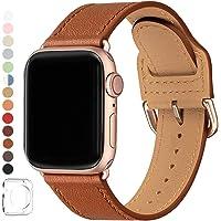 SUNFWR Pasek kompatybilny z Apple Watch, 38 mm, 40 mm, 42 mm, 44 mm, wysokiej jakości skóra, kompatybilny z iWatch…