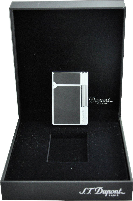 S.T.Dupont (エステーデュポン) ライター GATSBY(ギャッツビー) ブラック ラッカー (黒漆) クローム メッキ 仕様 18109 [正規品] B00EZK5MSG