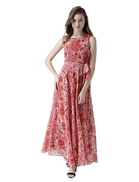 6ecec45e0d18 MsFQ Women s A-Line Maxi Dress  Amazon.in  Clothing   Accessories