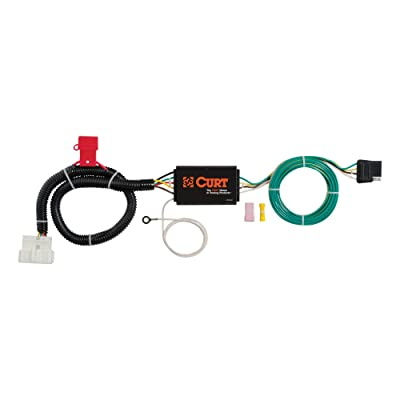 CURT 56291 Vehicle-Side Custom 4-Pin Trailer Wiring Harness for Select Honda Pilot: Automotive