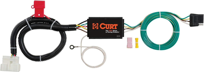 CURT 400 Vehicle Side Custom 40 Pin Trailer Wiring Harness, Select Honda  Pilot, Passport