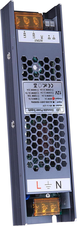 adaptateur de transformateur de sortie /à tension constante prend en charge le contr/ôle de gradation TRIAC et 0-10V VARICART IP20 12V 8.3A 100W Dimmable LED Driver alimentation /à d/écoupage AC DC