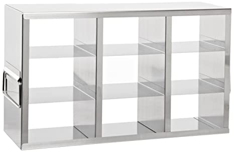 Heathrow Scientific HD2862KA - Soporte horizontal para congelador (con 9 estanterías para cajas de 75