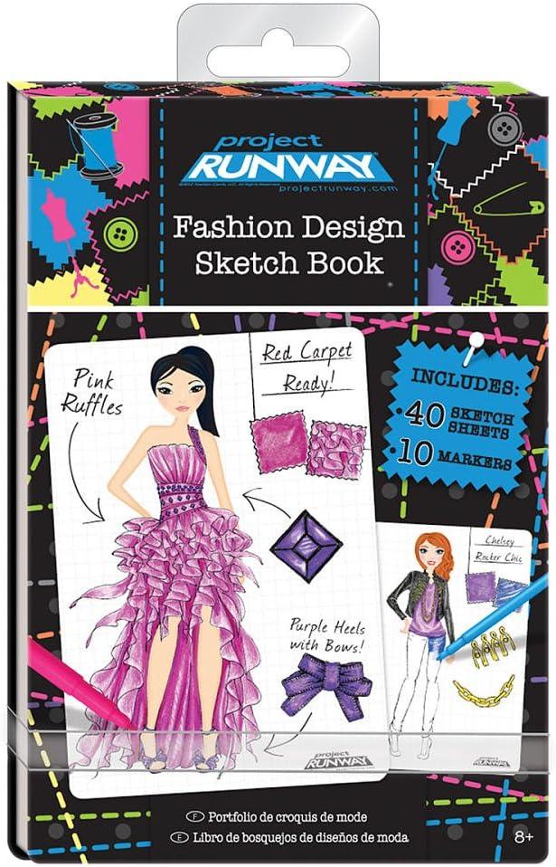 Amazon Com Project Runway Fashion Design Mini Sketch Book Toys Games