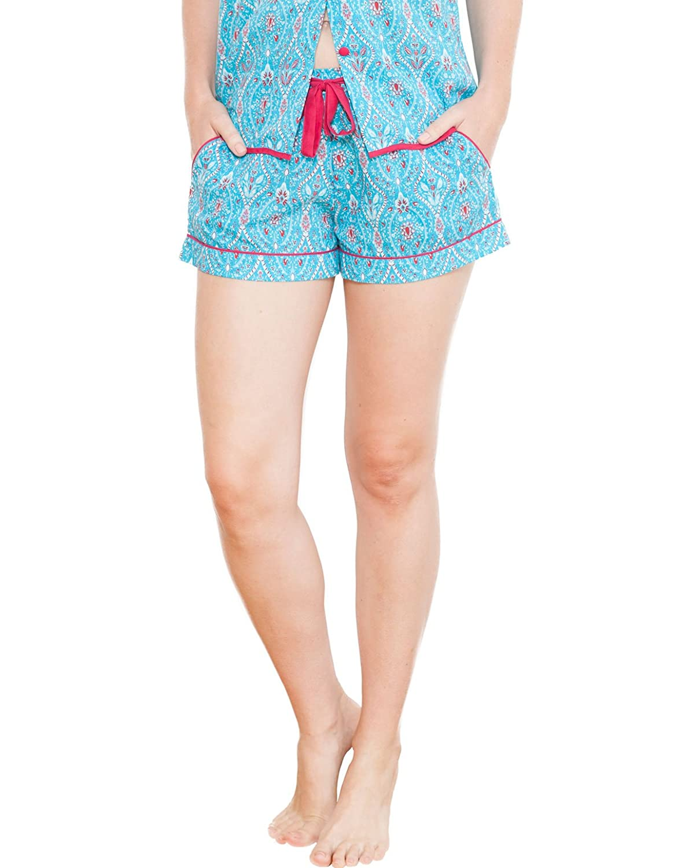 TALLA 42. Cyberjammies 3709 Women's Katrina Aqua Blue Motif Pajama Pyjama Short