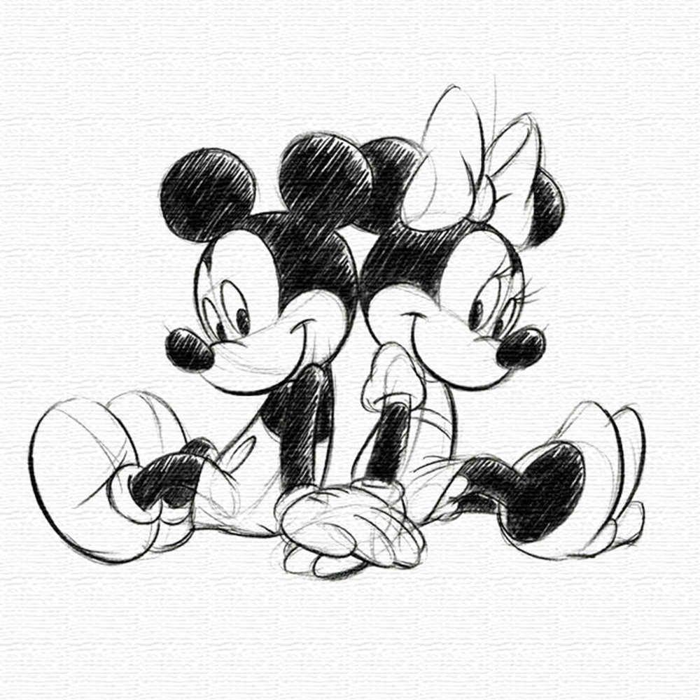 Amazon|【アートデリ】ミッキーマウス・ミニーマウスのアートパネル dsn,0249|モダン・コンテンポラリー オンライン通販