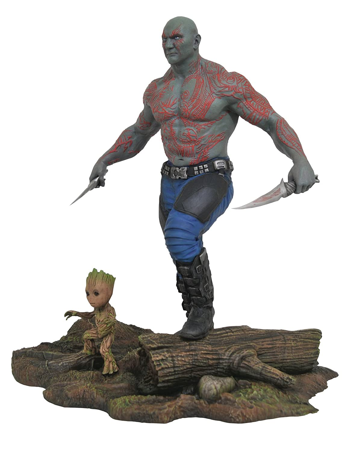 Diamond Select Toys Marvel Gallery Guardians of The Galaxy Vol. 2 Drax & Groot PVC Figure DCME7 MAY172524