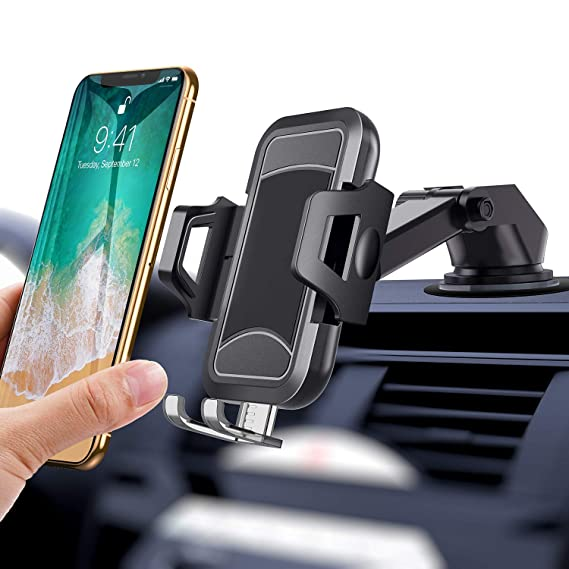 itaomi [Upgrade] Car-Phone-Mount, Dashboard Air Vent Windshield, Handsfree  Cell Phone Car Holder Compatible iPhone XR Xs Max Xs X 8 7 6 Plus,