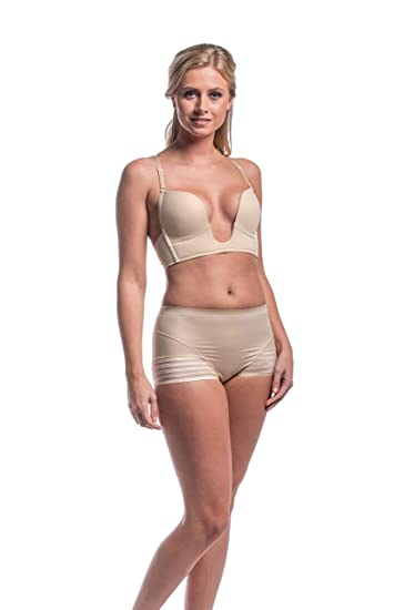 Amazon.com: Love Tango Magic BODYFASHION Deep-V-Bra 6513 Camel 75 B, Clear: Home & Kitchen
