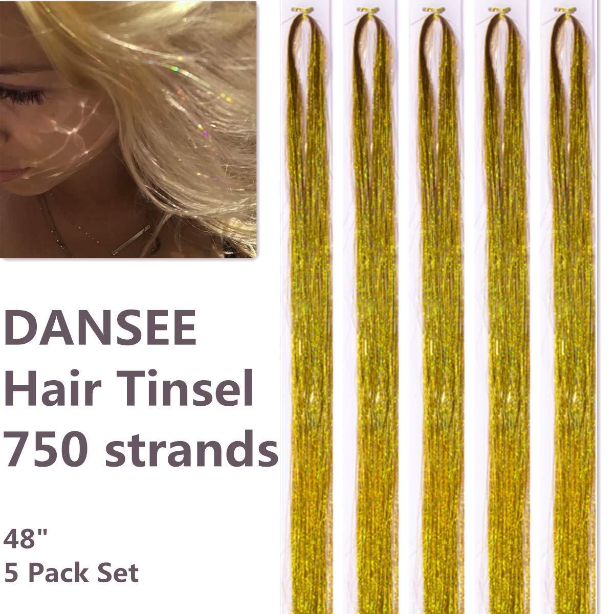 Amazon Com Dansee 48 Hair Tinsel 750 Strands Kit