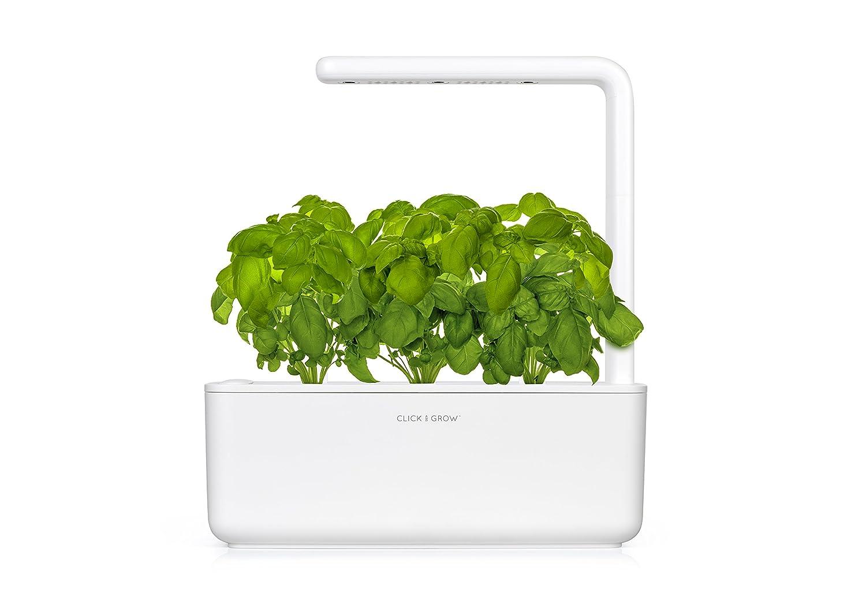 Click & Grow Smart Garden 3 Indoor Gardening Kit (includes 3 basil plant pods), Beige SMART GARDEN 3 MELLOW BEIGE