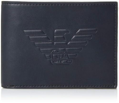 Emporio Armani cartera billetera bifold de hombre nuevo blu: Amazon.es: Zapatos y complementos