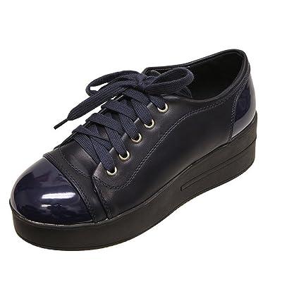 Bella Marie Women's Closed Round Toe Platform Oxford Creeper Sneaker | Shoes