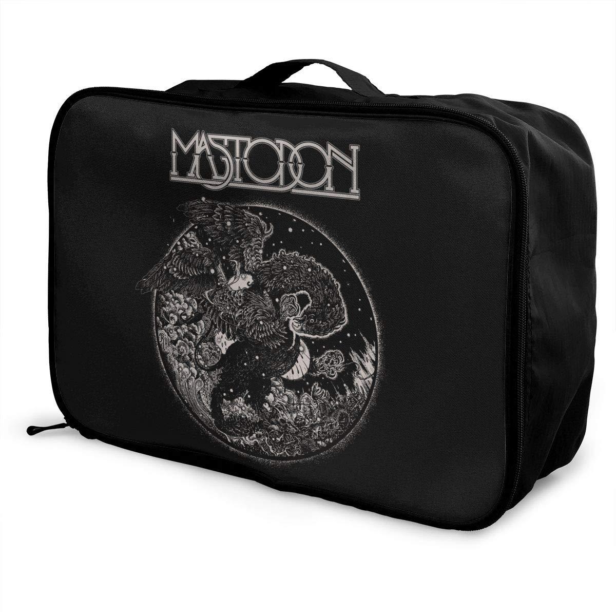 Fretlo Mastodon Travel Duffel Bag Waterproof Lightweight Large Capacity Portable Luggage Bag Black