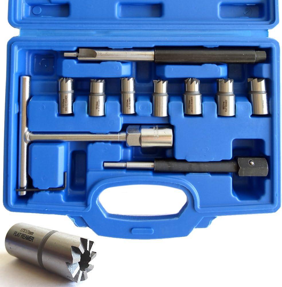 11 teilig Injektoren Einspritzd/üsen Fr/äser SET 8-teiliges Injektor Auszieher Puller SET f/ür CDI
