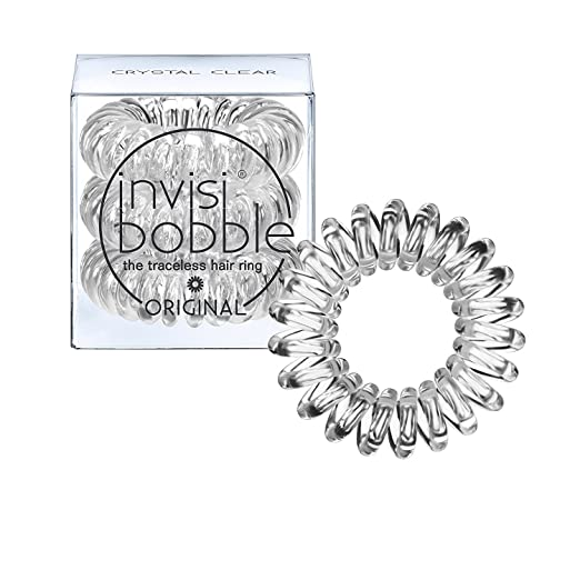 Invisibobble Traceless Hair Ring and Bracelet, Crystal Clear Suitable for All Hair Types