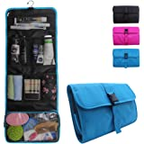 Relavel Travel Hanging Toiletry Bag for Men Women Travel Kit Shaving Bag Waterproof Wash Bag Makeup Organizer for Bathroom Shower Blue (Sky Blue)