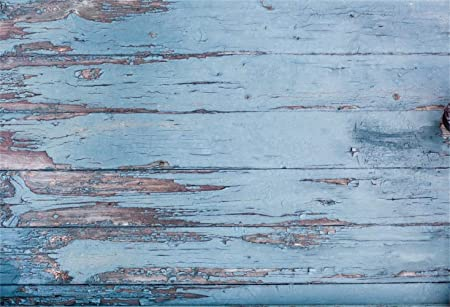 Polyester 10x6.5ft Rustic Light Blue Lateral-Cut Wood Texture Plank Photography Background Chic Wooden Board Backdrop Children Adult Pets Artistic Portrait Shoot Studio Props