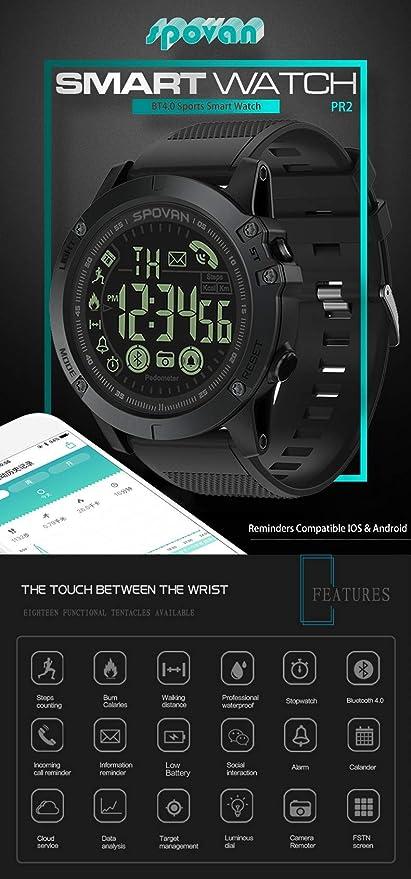 SMIRK SUMER Reloj Inteligente, Smartwatch con Pulsómetro ...