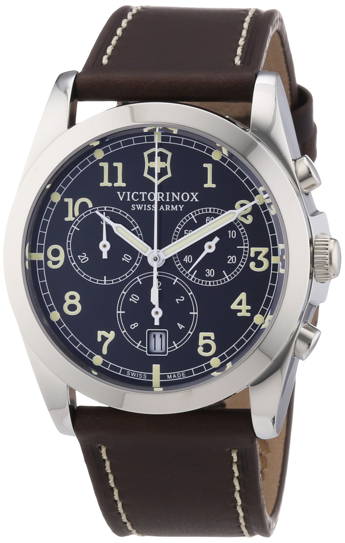 Victorinox Men's 241567 Infantry Chronograph Brown Stainless Steel Watch by Victorinox