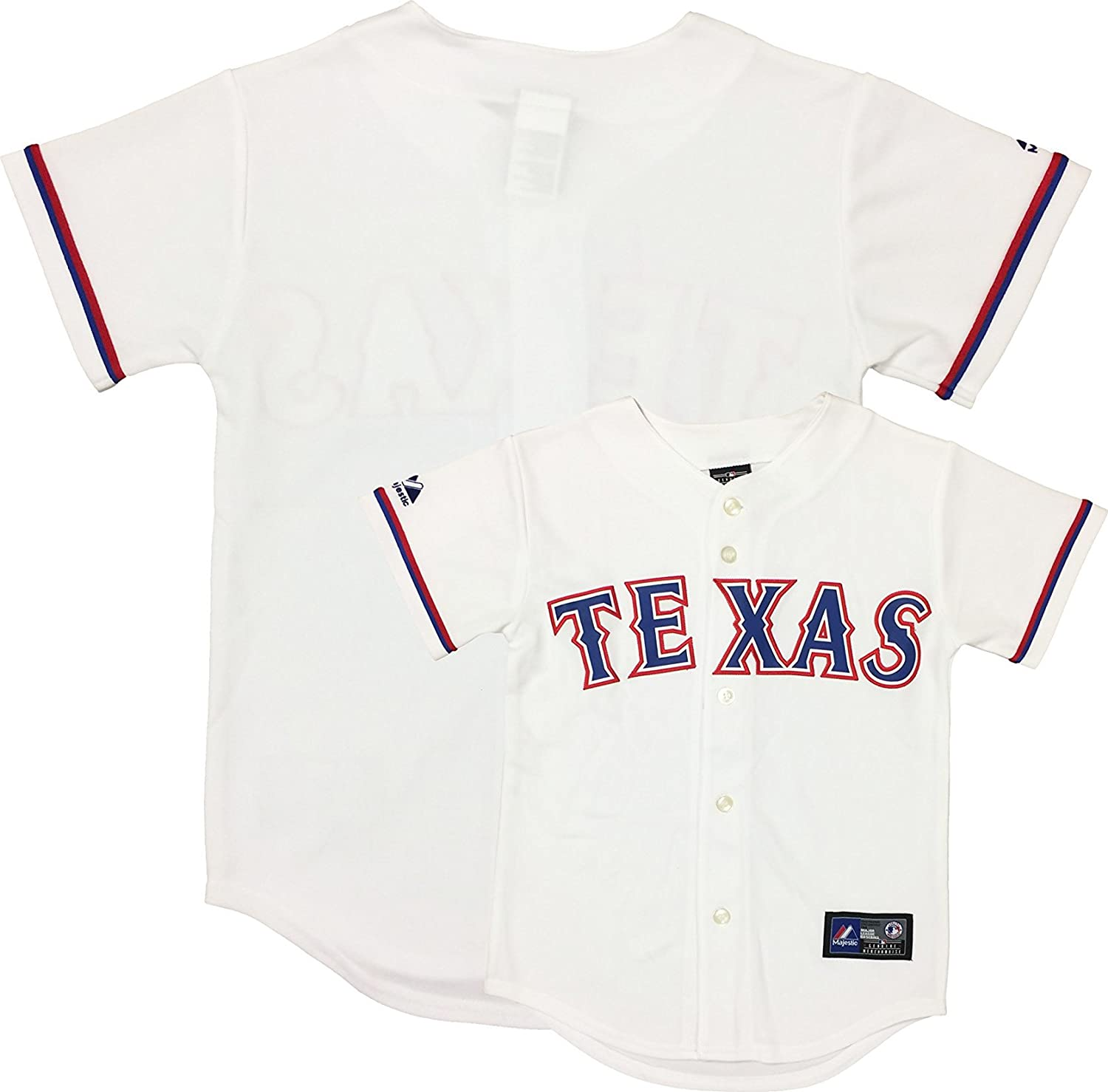 release date caadd 374cb OuterStuff Texas Rangers Word Mark White Kids Authentic Home ...