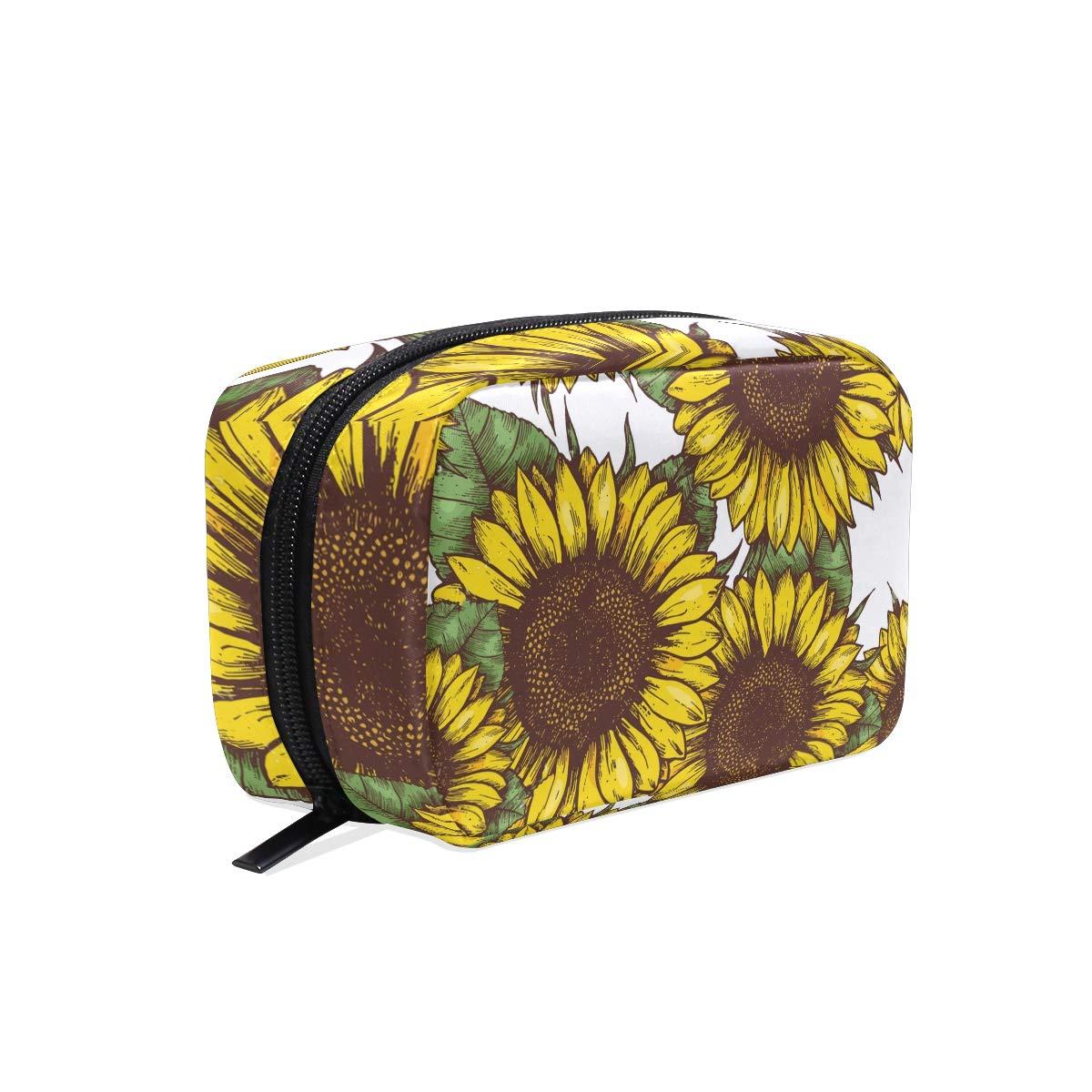 438e2df75fbe Amazon.com : Portable Organizer Makeup bag, Summer Sunflowers ...