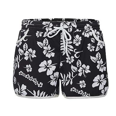 Fashion Couple Shorts Homme✪Robemon Été Fleur Imprimer Plage Homme Short A  Drawstring Workout Yoga 6abe563a4e9