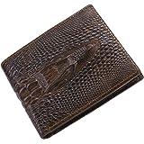 Itslife Men's Cowhide Leather Wallet Alligator Tiger Dragon Embossing