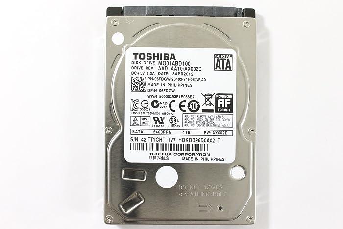 """Dell 6FDGW MQ01ABD100 2.5"""" SATA 1000GB 5400 Toshiba Laptop Hard Drive Latitude E6420"""