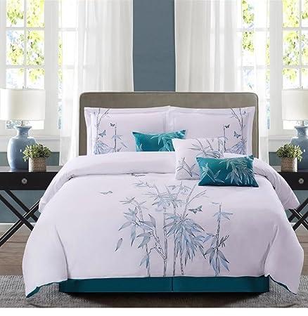 Asian oriental bamboo comforter
