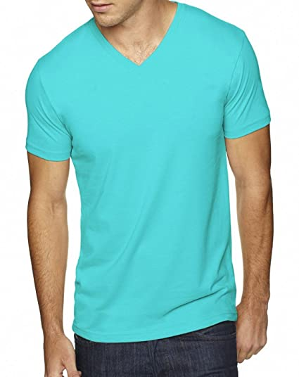 5052f7340a1f Next Level 6440 Premium Fitted Sueded V-Neck Tee Tahiti Blue X-Large |  Amazon.com
