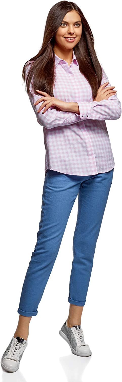 oodji Ultra Donna Pantaloni Stretti con Cintura
