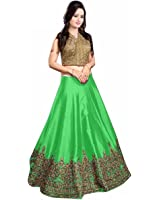 Vaankosh Fashion Women's Cotton Lehenga Choli (vnkosh26_Free Size_Navy Blue)
