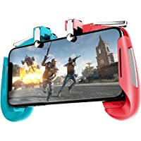 Sami® Mobile Game Controller for PUBG Gamepad Sensitive Shoot and Aim Keys Joysticks for iOS and Android (Gamepad Red-Blue) by Sami