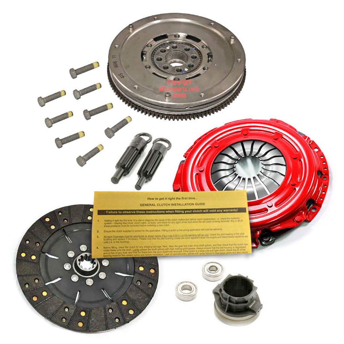 EFT etapa 2 Kit de embrague y nogal volante 91 - 98 BMW 318i es Ti Z3 1.8L 1.9L W/AC: Amazon.es: Coche y moto
