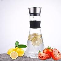 JIAQI agua jarra jarra de cristal con tapa