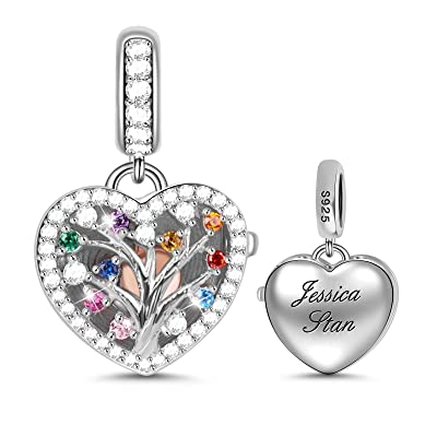 personalised photo dangle pendant charm bracelet charm gift