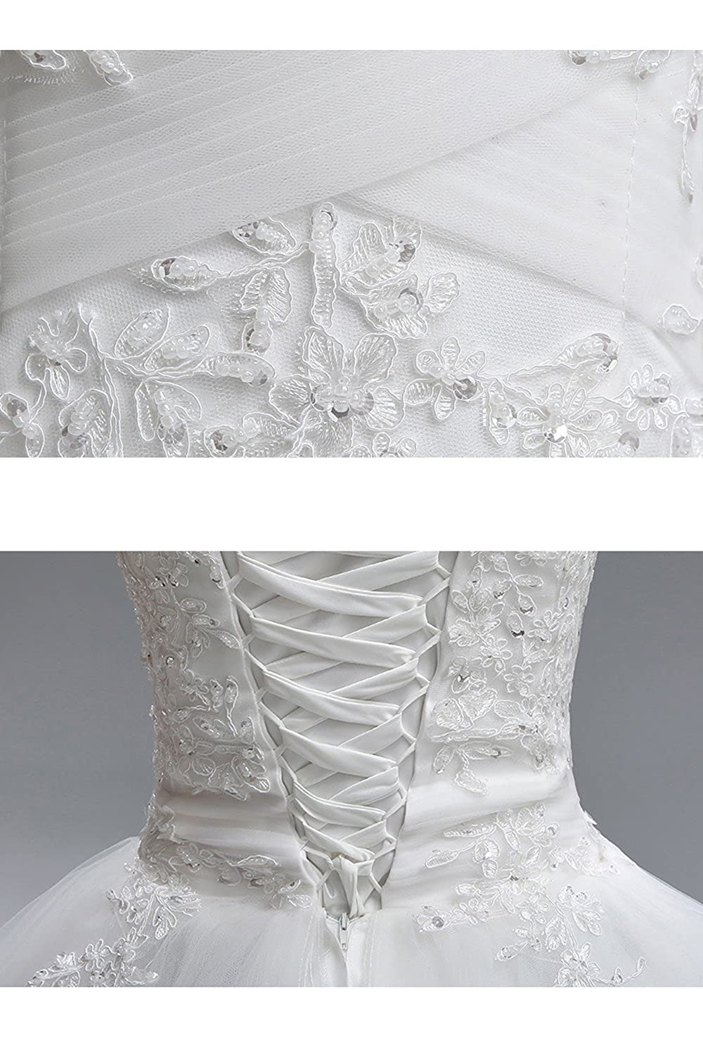 White Off The Shoulder Ball Gown Wedding Dress for Bride Wedding Bride Dress
