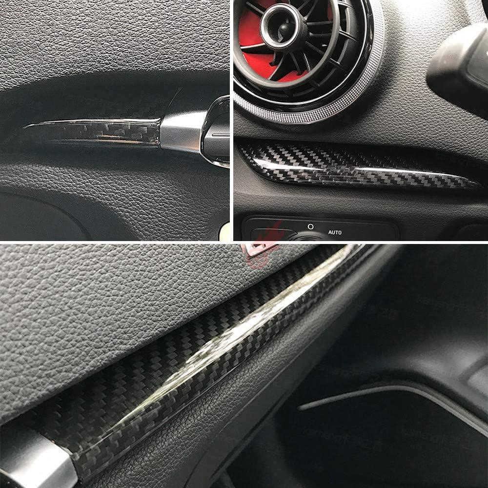 KSTE Pulsante in Fibra di Carbonio Centrale di Controllo multimediale manopola Decor Sticker Adatto for A-u-d-i A3 A4 8V 14-19