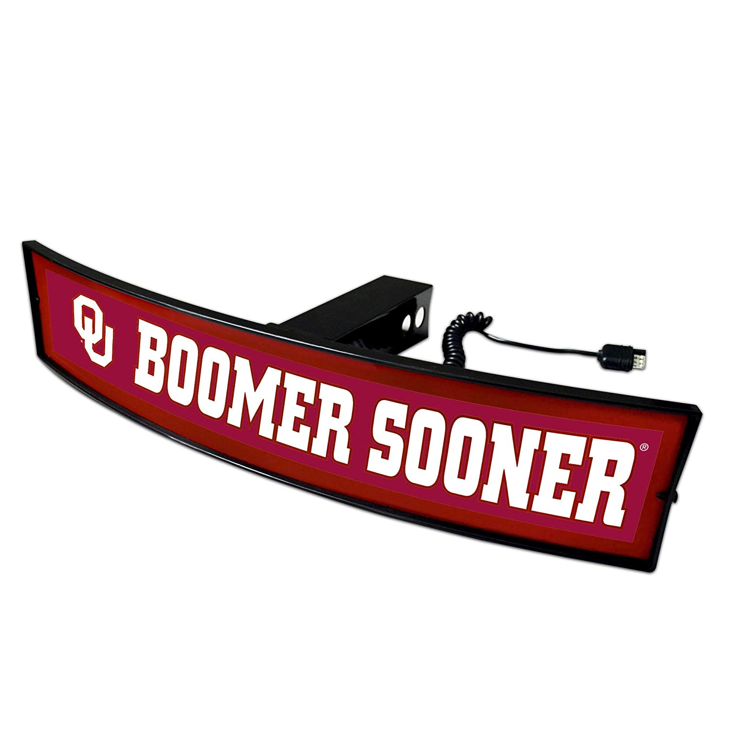 Oklahoma Sooners Boomer Sooner Light Up Hitch Cover