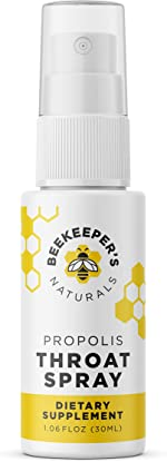 Beekeeper's Naturals Spray 95% Bee Propolis Extract-Natural Immune Support & Sore