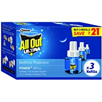 All Out Ultra Triple Refill (45ml, 3 Pieces, Clear)