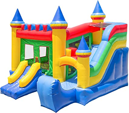 Amazon.com: Castillo inflable con tobogán, 100 % PVC ...