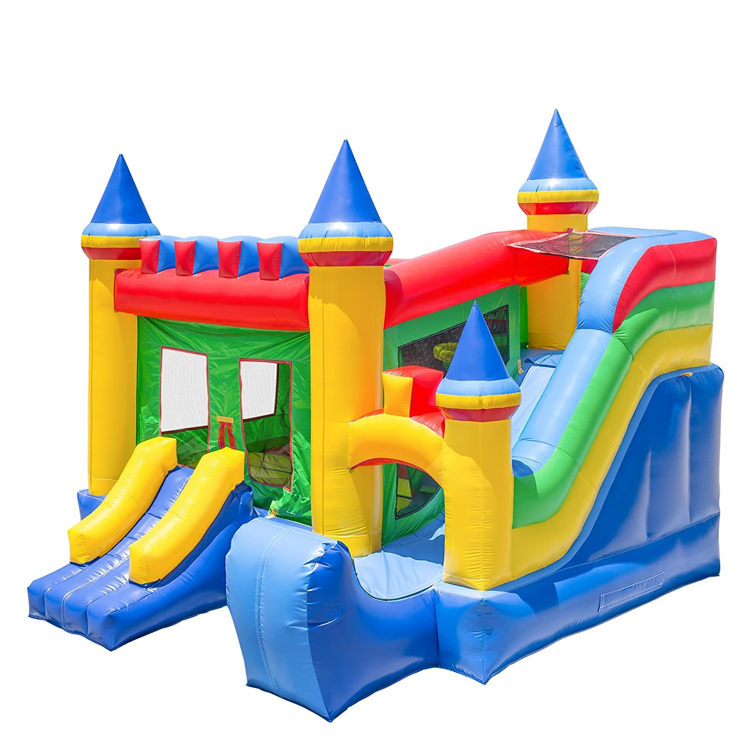 Enjoyable Inflatable Hq Commercial Grade Bouncing Castle Kingdom Bounce House 100 Pvc With Blower And Slide Interior Design Ideas Gentotryabchikinfo